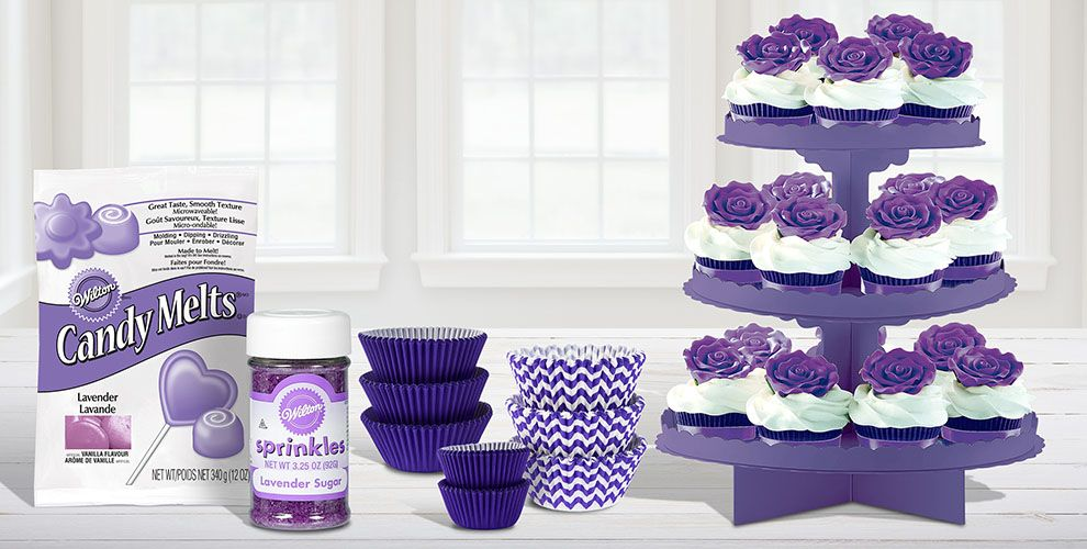 Purple Cake Supplies Purple Cupcake Cookie Ideas Party City