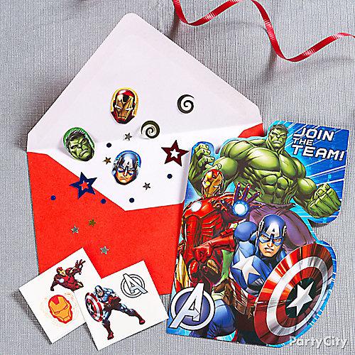 Avengers Invite with Surprise Idea