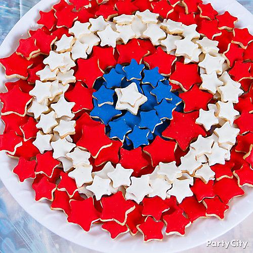 Captain America Shield Cookies Idea