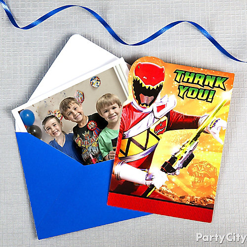 Power Rangers Thank You Note Idea