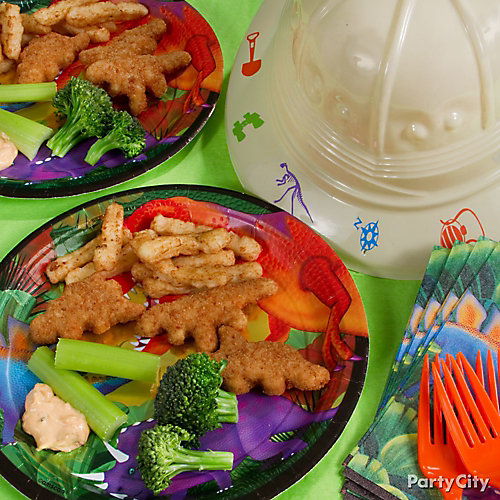 Prehistoric Dinosaur Nugget Lunch Idea