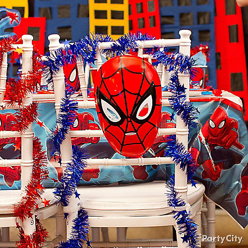Spider Man Chair Deco DIY  sc 1 st  Party City & Spider Man Chair Deco DIY - Table Decorating Ideas - Spider Man ...