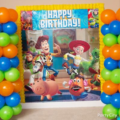 Toy Story Balloon Towers DIY Game Activity Ideas Toy Story