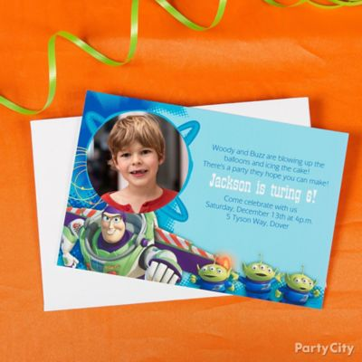 Toy Story Custom Invite Idea Invitation Thank You Ideas Toy
