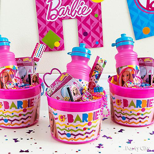 Barbie Favor Bucket Idea