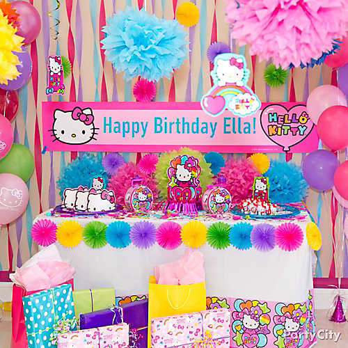 Hello Kitty Gift Table Idea Party City Party City