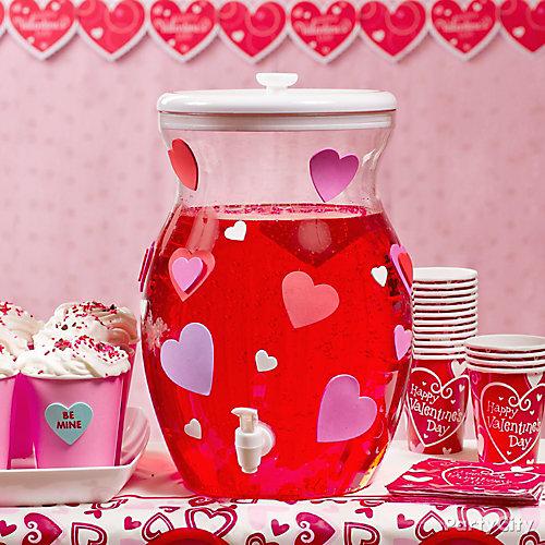 Valentines Day Drink Dispenser Idea