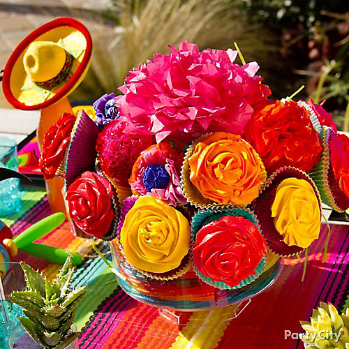 Cupcake Flower Centerpiece Idea
