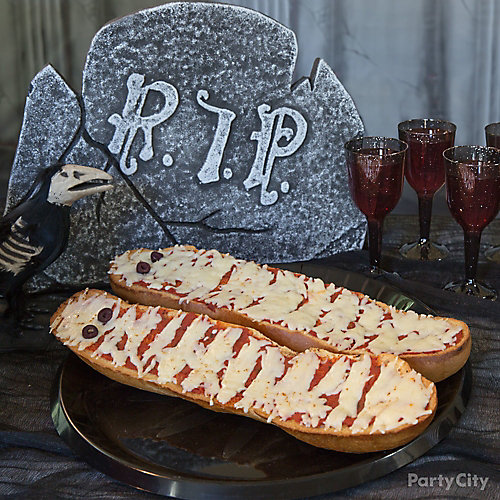 Savory Halloween Mummy French Bread Idea