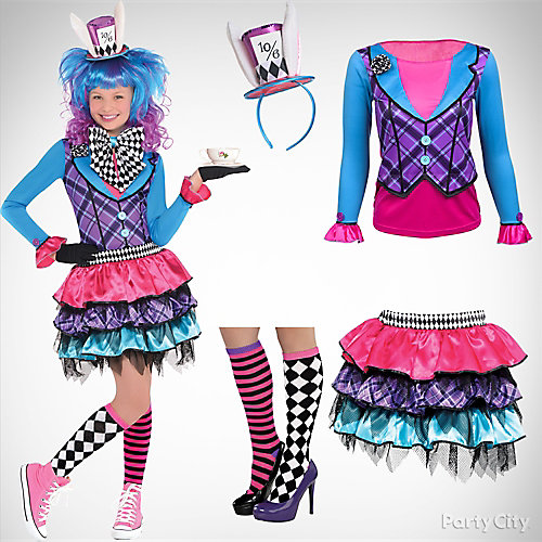 Girlsu0027 Mad Hatter Costume Idea  sc 1 st  Party City & Girlsu0027 Mad Hatter Costume Idea - Top Girlsu0027 Halloween Costume Ideas ...