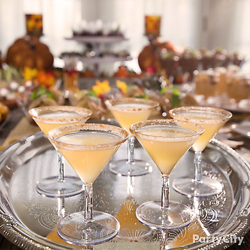 Sugar Rimmed Pear Cocktails Recipe