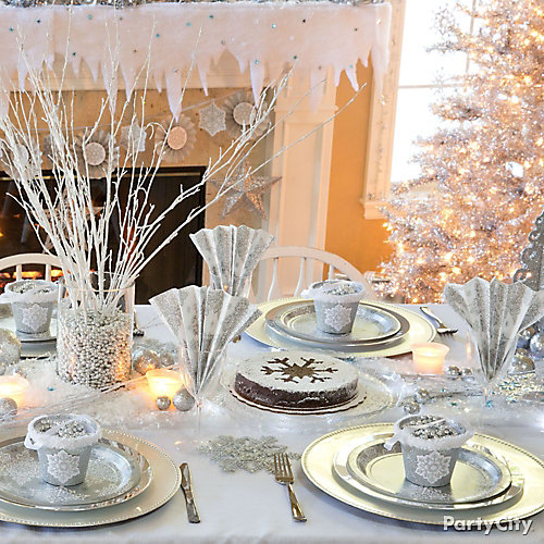 Winter Wonderland Tablescape Idea