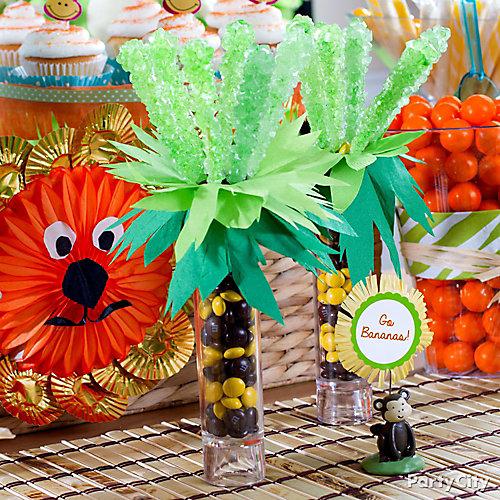 DIY Jungle Theme Baby Shower Candy Favors Idea