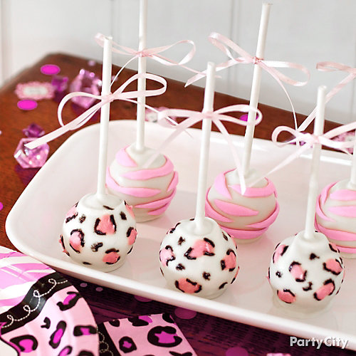Girl Baby Shower Jungle Theme Cake Pops Idea