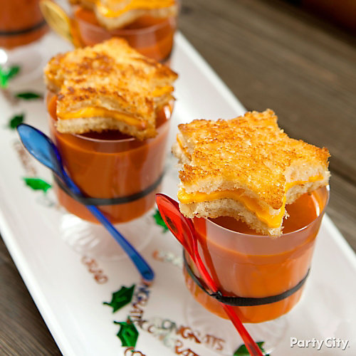 Tomato Soup and Grilled Cheese Stars Idea