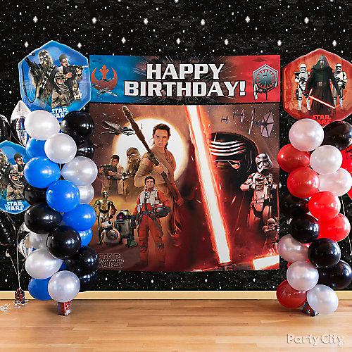 Star Wars Intergalactic Decorating Idea & Star Wars Photo Backdrop Decorating Idea - Party City | Party City ...