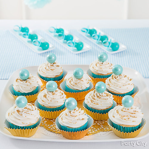 Prince Baby Shower Cupcake Idea