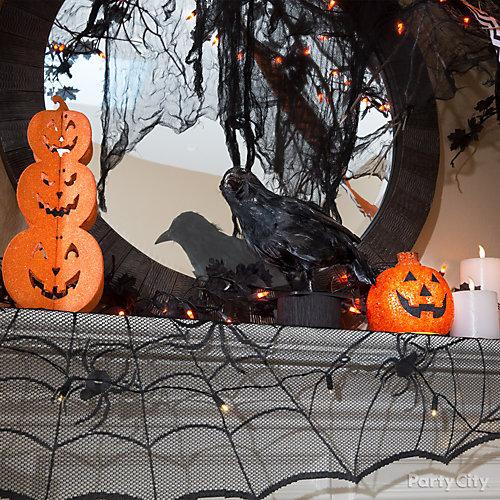 Crow Mantel Decorating Idea