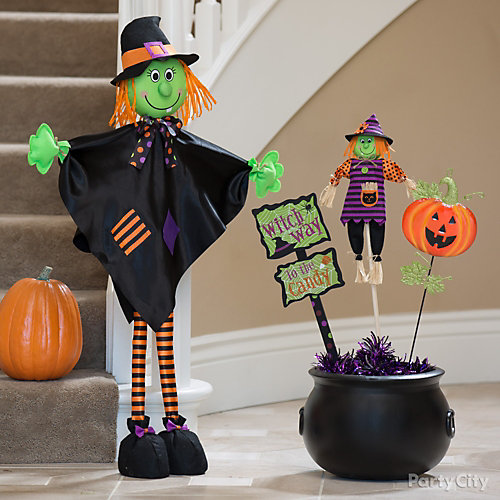 Welcoming Witch and Cauldron Idea