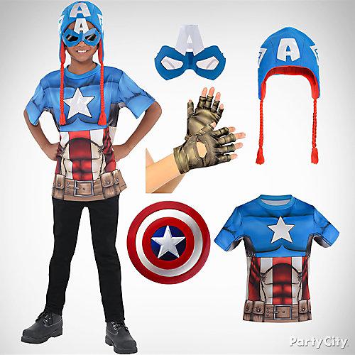 Boys Captain America Costume Idea