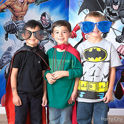 Justice League Photo Booth Activity Idea