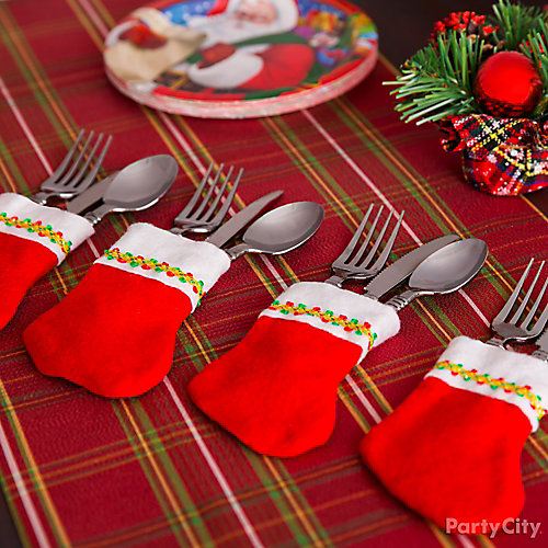 Mini Stocking Cutlery Idea