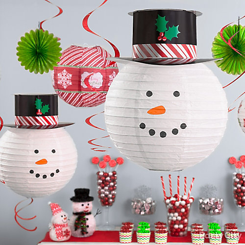 Adorable Snowman Ceiling Decor Idea