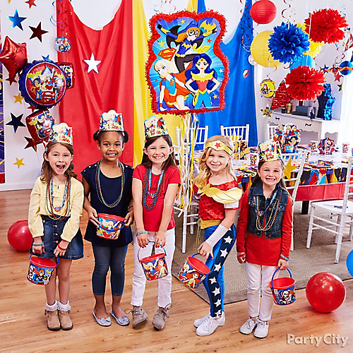 dc super hero girls pinata game idea game activity ideas dc
