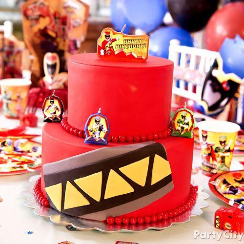 Awe Inspiring Power Rangers Fondant Cake How To Party City Funny Birthday Cards Online Alyptdamsfinfo