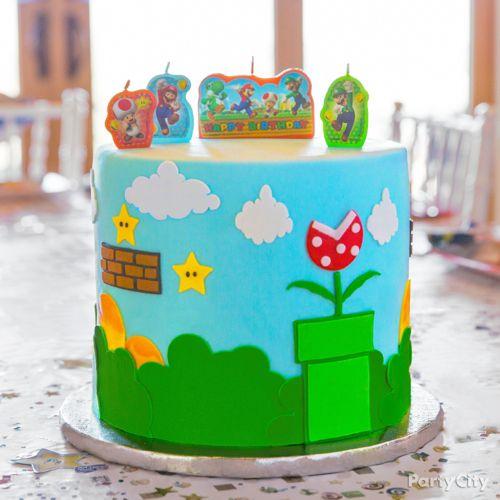 Super Mario Cake How Party City