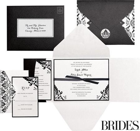Black white damask printable wedding invitations kit 30ct party city black white damask printable wedding invitations kit 30ct filmwisefo Choice Image