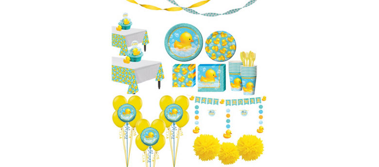 Rubber Ducky Baby Premium Baby Shower Kit for 32 Guests
