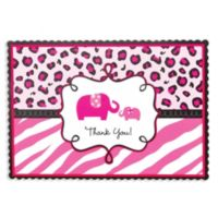 Pink safari baby shower party supplies party city pink safari baby shower thank you notes 20ct filmwisefo Images
