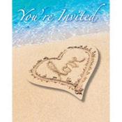 Beach Love Invitations 8ct
