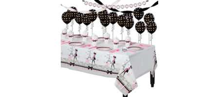 Pink Paris Super Party Kit For 8 Guests