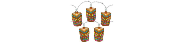 Outdoor Tiki Lights Outdoor party lights string lights for your luau party city tropical tiki string lights workwithnaturefo