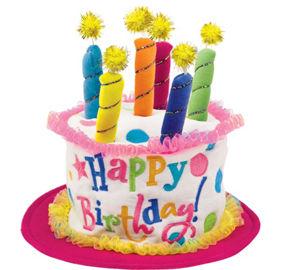 Plush Pink Birthday Cake Hat