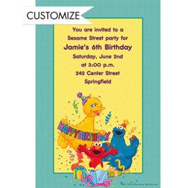 custom sesame street invitation party supplies party city
