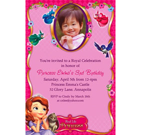 Custom sofia the first photo invitations party city custom sofia the first photo invitations stopboris Gallery