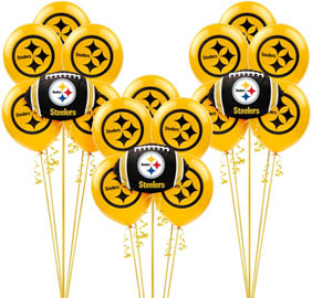 Nfl pittsburgh steelers party supplies party city canada pittsburgh steelers balloon kit filmwisefo