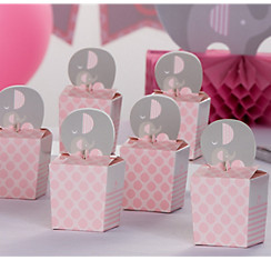 pink party and girl baptism box baby boxes favors gifts shower cute for favor blue