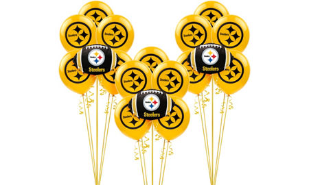 Nfl pittsburgh steelers party supplies party city pittsburgh steelers balloon kit filmwisefo Gallery