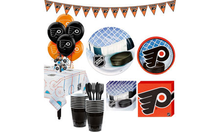 super philadelphia flyers party kit for 16 guests