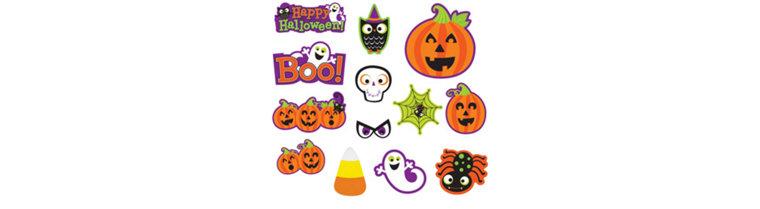 Halloween Wall & Window Decorations – Cutouts, Spooky Gel Clings ...