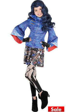 Child Blue Evie Wig Descendants Party City