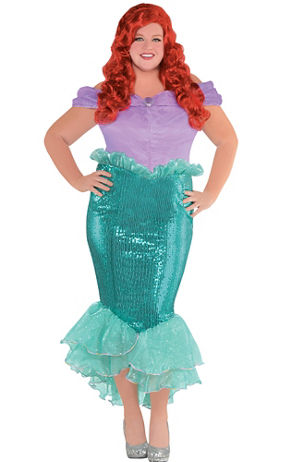 adult ariel costume plus size the little mermaid