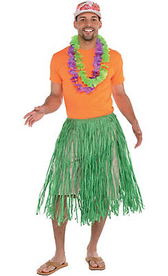Hula skirts grass skirts party city adult luau costume accessory kit solutioingenieria Gallery