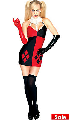 Sexy halloween costumes for women sexy costumes ideas party city adult sexy harley quinn costume batman solutioingenieria Images