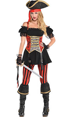 Pirate costumes for women sexy pirate costume ideas party city adult lassie lady pirate costume solutioingenieria Image collections