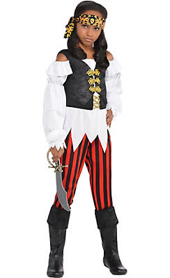 Top costumes for girls top halloween costumes for kids party city girls pretty scoundrel pirate costume solutioingenieria Image collections